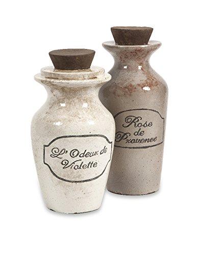 Imax 18216-2 Victoria Decorative Perfume Bottles, Set Of 2