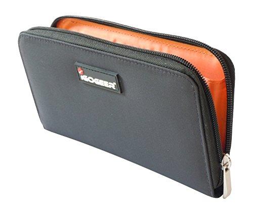 Women-Wallet-W05-Women-Travel-Clutch-Passport-Wallet-Black-with-Rfid-Blocking-by-IGOGEER