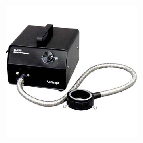 Amscope Hl150-Br 150W Fiber Optic Ring Light Illuminator For Microscopes