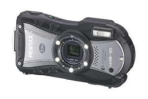 Pentax WG-10 Appareil Photo Etanche 14 Mpix Zoom optique 5x Noir + Etui en néoprène + Harnais de poitrine