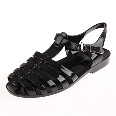 Wild Diva GIA-01 Fisherman Jelly Cage Flat Sandal Shoes COLOR BLACK SIZE 5