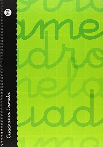 Lamela 99-N - Cuaderno con espiral, folio, tapa dura, color verde, talla 80 páginas/ 3 mm