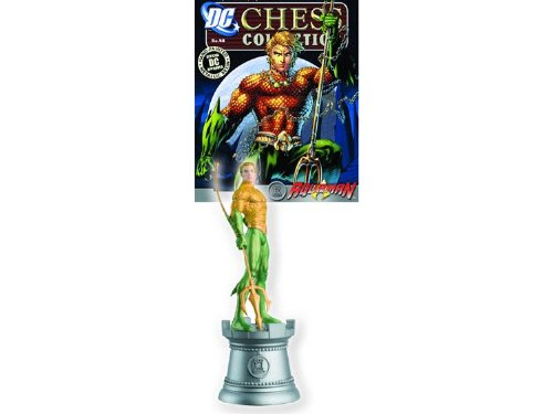DC Chess Justice League Collector Figure & Magazine Aquaman White Rook