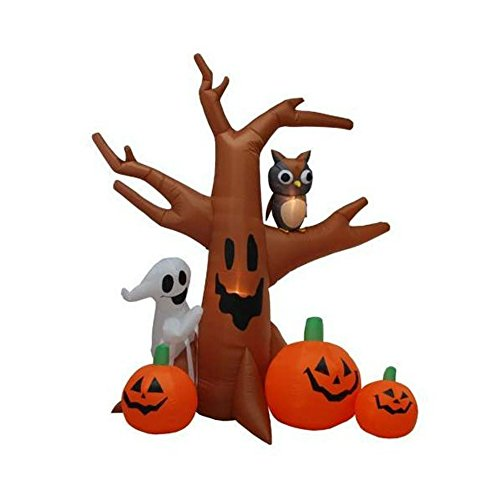 [Halloween Decorations Haunted Tree with Pumpkin, Ghost & Owl Great for Outdoor Yard] (Homemade Character Costumes Ideas)