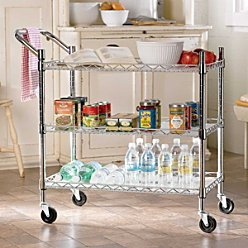 Cheap 3-Tier Wire Kitchen Cart – Improvements (399341 BLK)