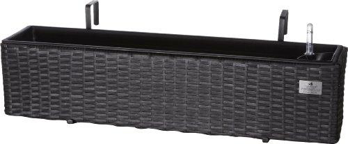 produkt bild gartenfreude polyrattan balkonkasten inkl aufh ngung 80 x 19 x 18 cm mit. Black Bedroom Furniture Sets. Home Design Ideas