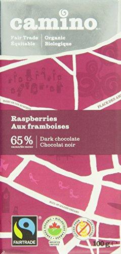 Camino Organic Chocolate Bars-Raspberries Dark Chocolate, 100G