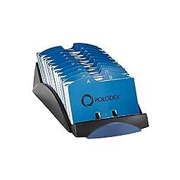 Rolodex® VIP® Black Index Card File, 2 1/4\