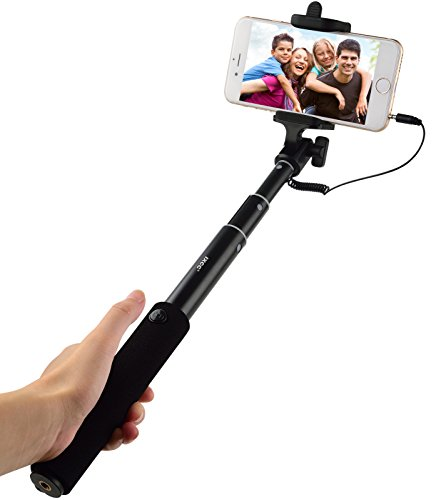 foldable wired selfie stick ixcc ultra light aluminum extendable monopod selfie stick kit. Black Bedroom Furniture Sets. Home Design Ideas