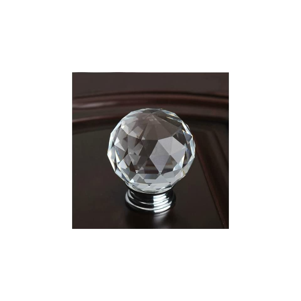 10pcs 30mm transparent Diamond Shape Crystal Glass Cabinet Knob Cupboard Drawer Pull Handle/great for Cupboard, Kitchen and Bathroom Cabinets, Shutters