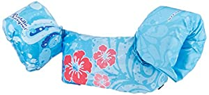 Stearns Puddle Jumper Deluxe Life Jacket, Blue Flower, 30-50 lbs