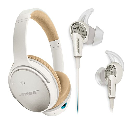 Bose QuietComfort 25 & 20 Bundle Noise Cancelling Headphones for Apple devices - White