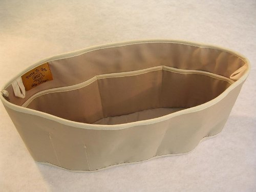 Purse To Go® purse organizer insert transfer liner-ENCLOSED BOTTOM- BUCKET TYPE-Tan color – Large size (12″L x 6″H x 3.5″W)
