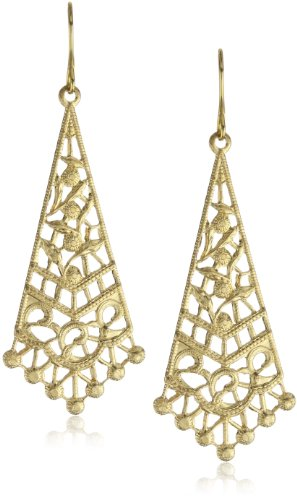 Privileged NYC Gold plated Filigree Drop Earrings 2