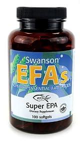 Swanson EFAs Super EPA Fish Oil - 100 Softgels - Superior Essential Fatty Acids
