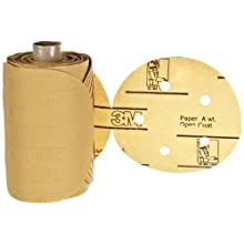 "3M Stikit Gold Paper D/F Disc Roll 216U, PSA Attachment, Aluminum Oxide, 5"" Diameter, P400 Grit (Pack of 1)"