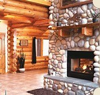 Set Of 12 River Rock Fireplace Wall Stone