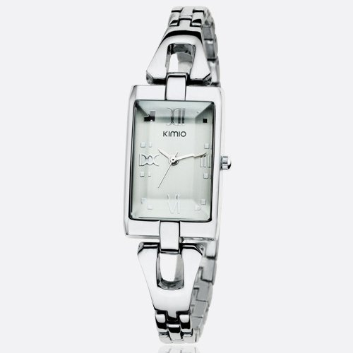 Ufingo-Retro Creative Casual Square Dial Nice Wrist Watch For Women/Ladies/Girls-Silver Band White Dial