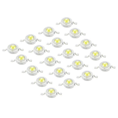20X Led Bead Led Light Bead 1W 100-120Lm Pure White By A1Store