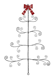 Ganz twisted metal wire christmas tree card for Christmas card holder wall hanging