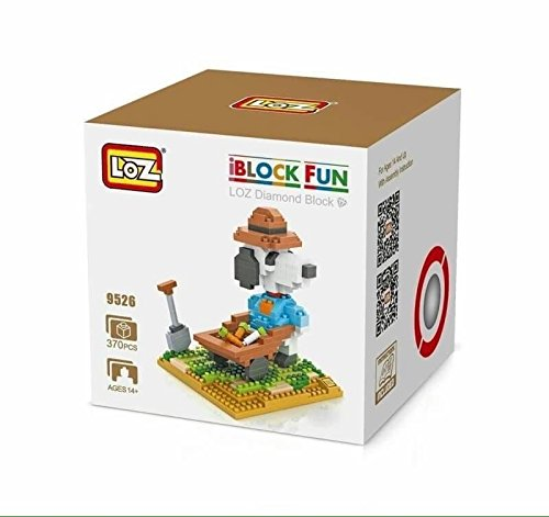 Building Blocks Snoopy and Charlie Brown The Peanuts Movie Gang Nanoblocks Diamond Toy Figurines Party Supplies Lot 4 Sets DIY Figure Animation Gift with Original Box