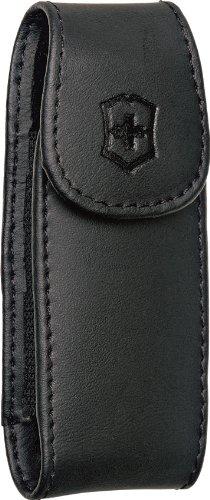 Victorinox Large Pocket Knife Clip Pouch, Leather Black