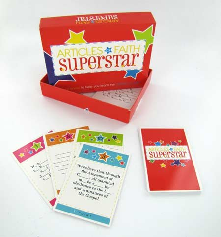 Articles of Faith Superstar - A Card Game to Help You Learn the Articles of Faith - LDS Mormon Games - 1