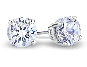 Diamond Stud Earrings 1/2 Carat (ctw) in 14K White Gold