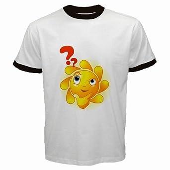 Men's Customized DAYBREAK DAY BREAK SUN SUNS SUNSHINE 100% Cotton White Ringer T-shirt