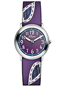 s.Oliver Mädchen-Armbanduhr Casual Analog Quarz Leder SO-2520-LQ