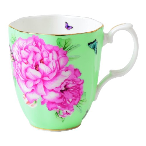 Royal Albert Friendship Vintage Mug Designed By Miranda Kerr, 13.5-Ounce, Green