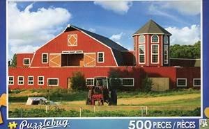 Puzzlebug 500 Piece Puzzle ~ Red Farmhouse - 1
