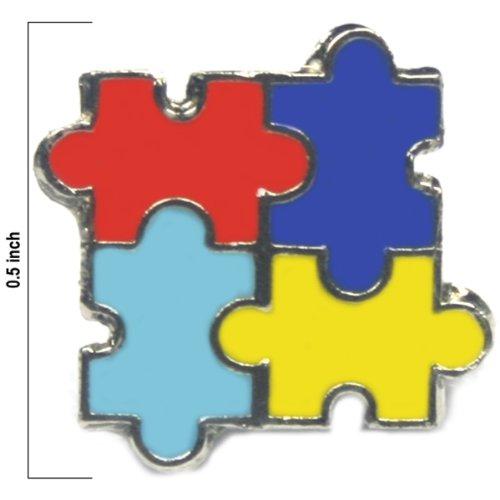 Autism Awareness Puzzle Tack Pin 10 Pack