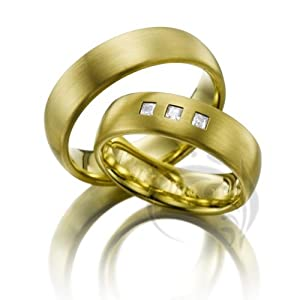 unique 14k yellow gold his and hers matching