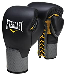 Buy Everlast Boxing Pro Lace Up Training Gloves - Black by Everlast