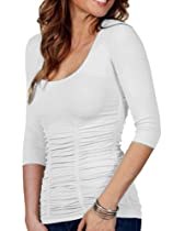 Last Tango Tops for women - Scoop Neck 3/4 Sleeve Top