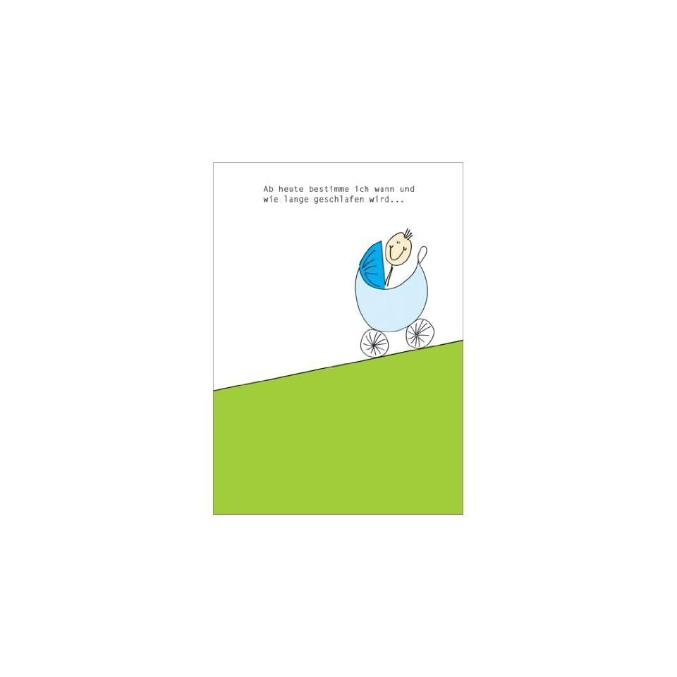 Lustige Gratulationskarte Mit Kinderwagen Und Spruch Zur