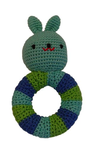kidSTYLE Amikins Bunny Rattle, Blue - 1