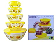 Glass Bowls with Lids by Imperial