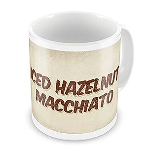 Amazon.com: Coffee Mug Iced Hazelnut Macchiato Coffee, Vintage style ...