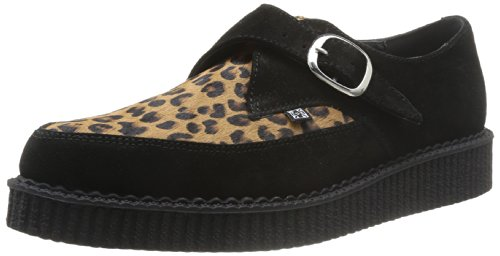 T.U.K  A8141 Pointed Creeper,  Scarpe stringate unisex adulto, Nero (Schwarz (Black/Leopard)), 36 EU / 2 UK