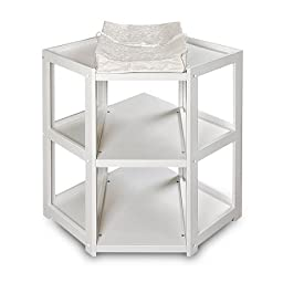 Diaper Corner Changing Table, White