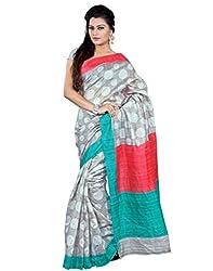SareeShop Women's Saree with Blouse Piece Saree (Bhagalpuri20905_MultiColored _Free Size)
