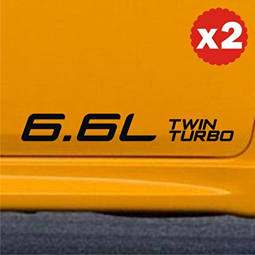 6.6L twin turbo turbocharged car engine displacement sticker decal label civic cruiser genesis 12 inch / 305 mm (width)liter cc valve crz fitment petrol petrol hybrid electric stance low boost (Turbocharged Decal compare prices)