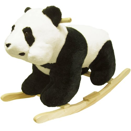 Happy Trails Panda Plush Rocking Animal - 1