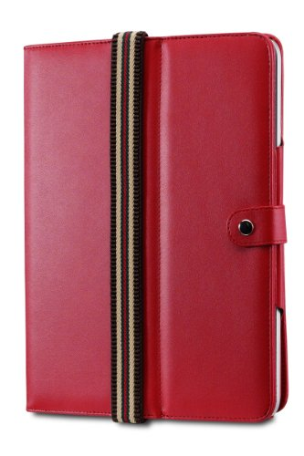 Acase Imitation Leather Flip Book Jacket for Apple iPad (Red)