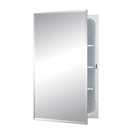 Jensen 1459MOD Horizon Frameless Single-Door Recessed Medicine Cabinet