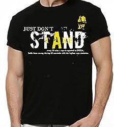 Dmovlov Men's Cotton T-Shirt (D1RN0M0B _Black_42)