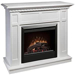 Caprice Electric Fireplace Finish White Home Kitchen