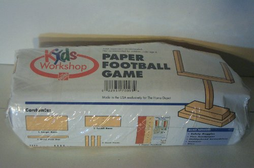 Home depot wood craft kids paper football game for Kids crafts at home depot